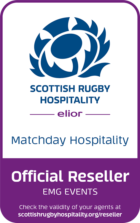 EMG Events is an Authorised Reseller of Hospitality for Scottish Rugby Hospitality